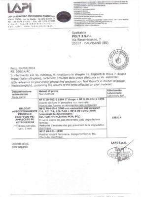 Gelcoat autoestinguente (F1)